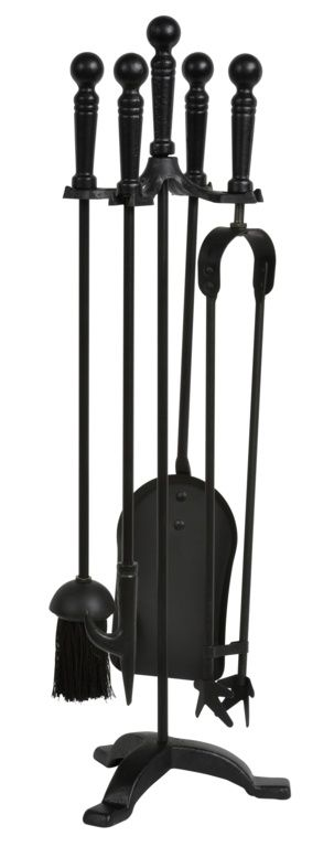 Hearth & Home All Black Companion Set 5 Piece - 25""